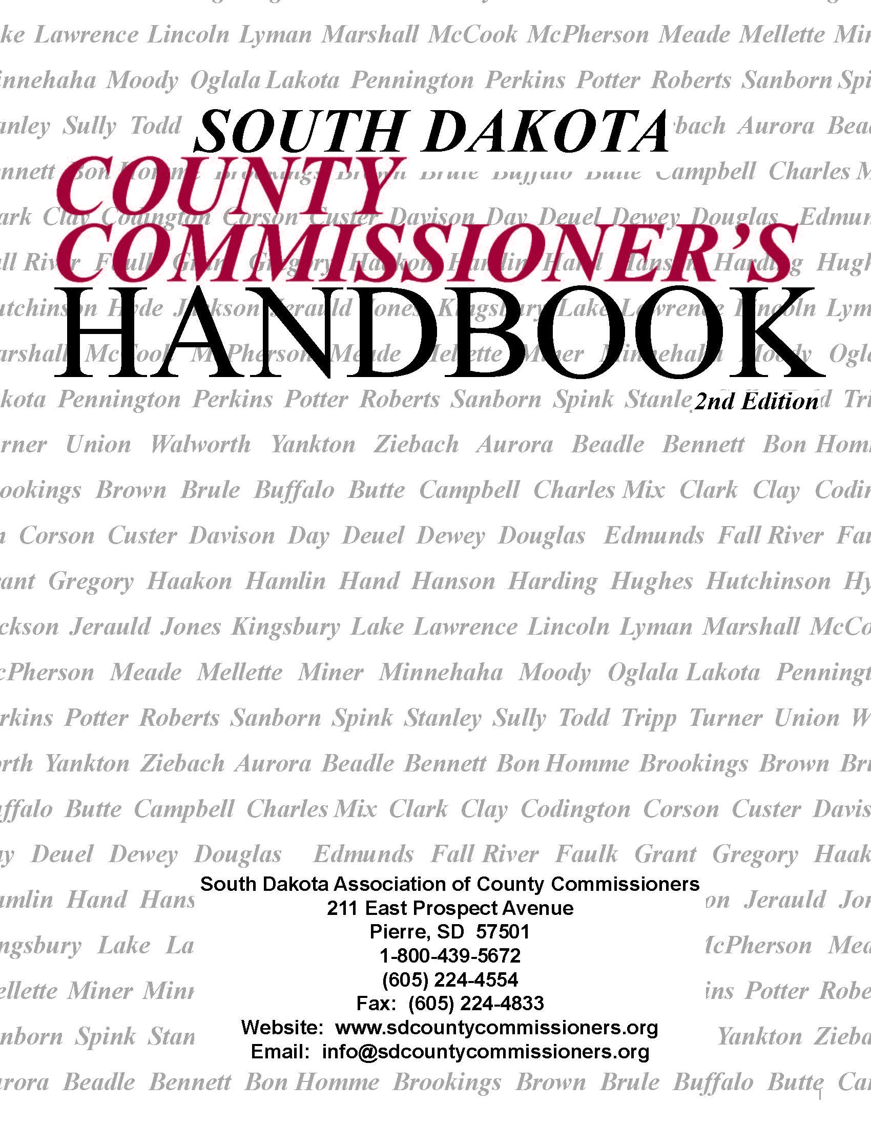 South Dakota Association of County Commissioners | To Promote and